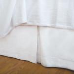 Elisabeth York Hemstitch Bed Skirt - White