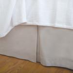 Elisabeth York Hemstitch Bed Skirt - Natural
