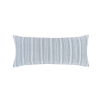 Elisabeth York Chenille Stripe Pillow - Fog