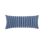 Elisabeth York Chenille Stripe Pillow - Ink
