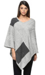 Darzzi Diamond Merino Wool Poncho