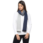 Darzzi Wind Farm Scarf - Navy/Gray