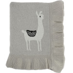 Darzzi Llama Baby Blanket - Pale whisper / natural / black
