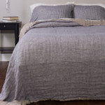 Amity Home Kent Linen Bedspread - French Blue/Natural