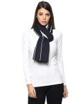 Darzzi Tiffany Scarf - Navy/Natural