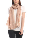 Darzzi Hearts Scarf - Blush/Natural