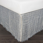 Amity Home Kent Linen Reversible Bed Skirt - Peacock/Natural