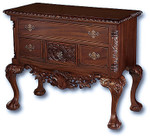 Laurel Crown Chippendale Lowboy Dresser