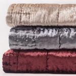 Amity Home Gardner Velvet  Quilt - Oyster