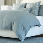 Lili Alessandra Gia Duvet Cover - Blue Cotton & Silk
