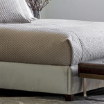 Lili Alessandra Laurie Diamond Quilted Coverlet - Stone Basketweave