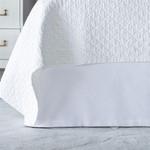 Lili Alessandra Retro Tailored Bedskirt - White Cotton