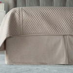 Lili Alessandra Laurie Tailored Bed Skirt - Stone Basketweave