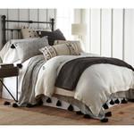 Amity Home Teton Linen Quilt - Asphalt