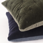 Amity Home Mesa Linen & Velvet Quilt - Indigo
