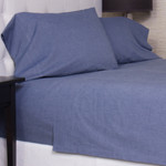 Amity Home Chambray Sheet Set - Blue