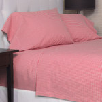 Amity Home Gingham Sheet Set - Red