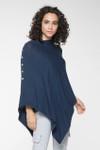 Yala Suzi Lightweight Sweater Poncho - Navy Heather