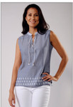 Venario Bethany Chambray Top