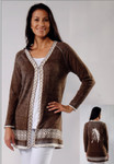 Venario Arizona Cardigan - Brown