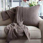 Orchids Lux Home Celestial Rib Knit Throw - Dune
