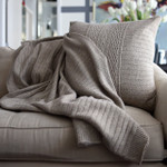 Orchids Lux Home Celestial Rib Knit Throw - Slate