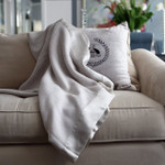 Orchids Lux Home Bergen Wool & Silk Throw - Pearl
