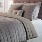 Orchids Lux Home Bailey Quilt - Silver