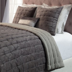 Orchids Lux Home Bailey Quilt - Mink