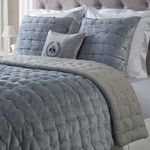 Orchids Lux Home Bailey Quilt - Smoky Blue