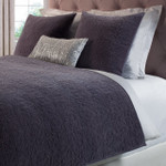 Orchids Lux Home Duke Quilt - Graphite