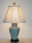 Bay Home and Linens Dusty Blue Vase Lamp