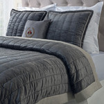 Orchids Lux Home Oliver Quilt - Cocoa