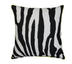 Orchids Lux Home Abila Deco Pillow - Black/White