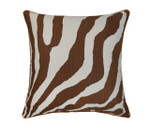Orchids Lux Home Abila Deco Pillow - Brown/Ivory