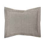 Elisabeth York Hemstitch Sham - Granite