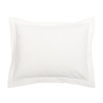 Elisabeth York Hemstitch Sham - White