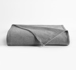 DownTown Company Herringbone Blanket -  Charcoal Gray/White