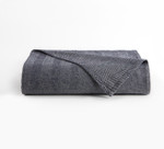 DownTown Company Herringbone Blanket -  Navy/White