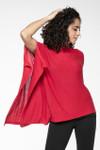 Yala Suzi Lightweight Sweater Poncho - Cherry