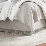Elisabeth York Lavato Paneled Bed Skirt - Oyster