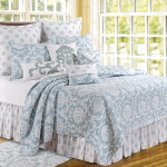C&F Providence Chambray Quilt - Blue