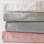 Amity Home Lia Rayon Velvet Duvet Cover - Petal Pink