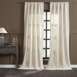 Amity Home Lia Velvet Curtain - Ivory