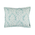 Lili Alessandra Milan Standard Pillow - Spa Faded Damask Venetian Linen