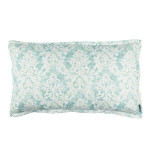 Lili Alessandra Milan King Pillow - Spa Faded Damask Venetian Linen