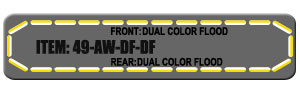 "Feniex Fusion 49"" from Lone Star Public Safety, Amber/White Dual Color Flood"