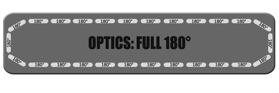 """Full 180 Degree Optics for Feniex Fusion 49"""" From Lone Star Public Safety"""