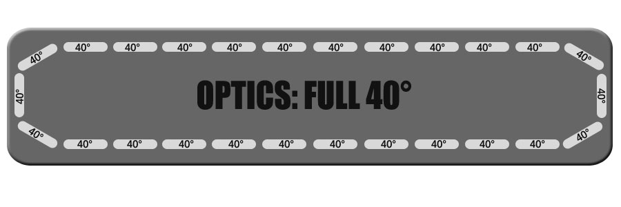 "Full 40 Degree Optics for Feniex Fusion 49"" From Lone Star Public Safety"
