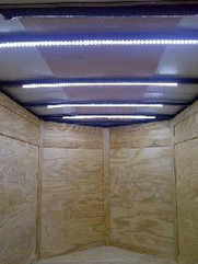 Trailer with LED Strips on Roof.